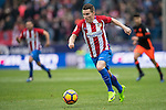 Kevin Gameiro of Atletico de Madrid runs with the ball during the match Atletico de Madrid vs Valencia CF, a La Liga match at the Estadio Vicente Calderon on 05 March 2017 in Madrid, Spain. Photo by Diego Gonzalez Souto / Power Sport Images