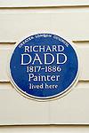 Richard Dadd artist, painter his Blue Plaque Suffolk street London Uk