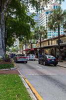 Ft. Lauderdale, Florida.  Shops on Las Olas Boulevard.