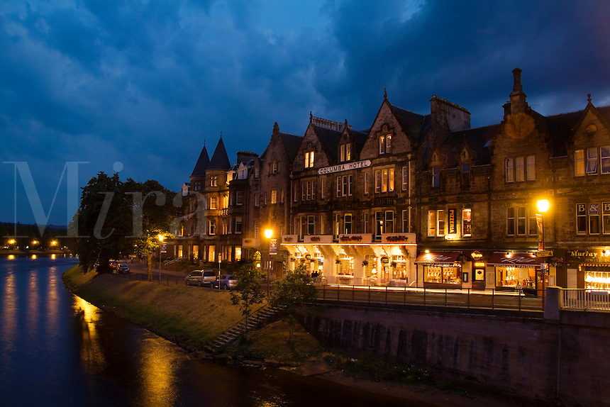Quaint town of Inverness Scotland in the Highlands home of the Loch Ness Monster