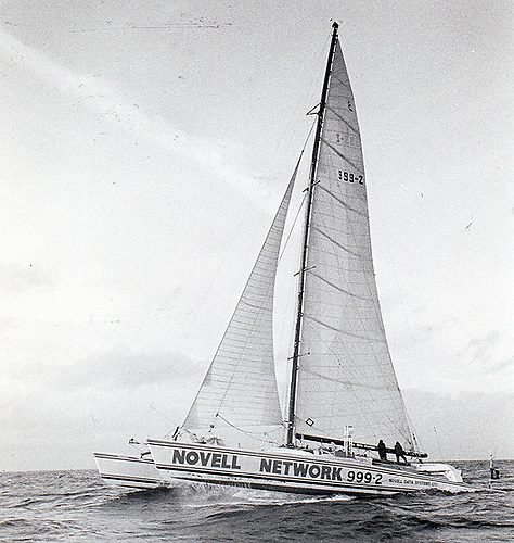 The 80ft catamaran Novanet