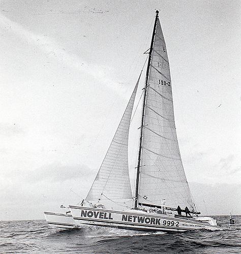 The 80ft catamaran Novanet