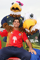 Essex CCC mascots and Eddie and Ellie the Eagles pose with Alastair Cook - Essex CCC Press Day at the Ford County Ground - 07/04/10 - MANDATORY CREDIT: Gavin Ellis/TGSPHOTO - Self billing applies where appropriate - Tel: 0845 094 6026