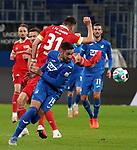 02.11.2020, PreZero-Arena, Sinsheim, GER, 1.FBL, TSG 1899 Hoffenheim vs 1.FC Union Berlin , <br /> DFL  regulations prohibit any use of photographs as image sequences and/or quasi-video.<br /> im Bild<br /> Robin Knoche (Union Berlin), Ishak Belfodil (Hoffenheim)<br /> <br /> Foto © PIX-Sportfotos *** Foto ist honorarpflichtig! *** Auf Anfrage in hoeherer Qualitaet/Aufloesung. Belegexemplar erbeten. Veroeffentlichung ausschliesslich fuer journalistisch-publizistische Zwecke. For editorial use only. DFL regulations prohibit any use of photographs as image sequences and/or quasi-video.