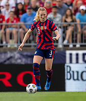 EAST HARTFORD, CT - JULY 5: Samantha Mewis #3 of the USWNT dribbles during a game between Mexico and USWNT at Rentschler Field on July 5, 2021 in East Hartford, Connecticut.