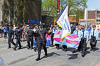 Pictured: Officers from South Wales Police Force take part in the parade. Saturday 04 May 2019<br /> Re: Swansea Pride Parade in south Wales, UK.