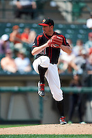 Rochester Red Wings relief pitcher Sean Burnett (21) during a game against the Norfolk Tides on July 17, 2016 at Frontier Field in Rochester, New York.  Rochester defeated Norfolk 3-2.  (Mike Janes/Four Seam Images)