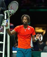 Rotterdam, The Netherlands, February 13, 2016,  ABNAMROWTT, Gael Monfils (FRA)<br /> Photo: Tennisimages/Henk Koster