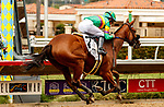 DEL MAR, CA  AUGUST 21: First race and #2 Ain't Easy, ridden by Joel Rosario and trained by Phil D'Amato breaks his maiden on August 21, 2021 at Del Mar Thoroughbred Club in Del Mar, CA.  (Photo by Casey Phillips/Eclipse Sportswire/CSM)
