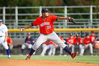 Greeneville Astros starting pitcher Juan Santos (54) in action against the Burlington Royals at Burlington Athletic Park on June 29, 2014 in Burlington, North Carolina.  The Royals defeated the Astros 11-0. (Brian Westerholt/Four Seam Images)