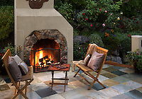 Outdoor fireplace and StoneDeck