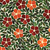 Jacqueline, a jewel glass waterjet mosaic shown in Ruby, Sardonyx, Citrine, Olivine and Malachite, is part of the Silk Road® collection by New Ravenna.