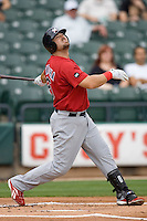 Stavinoha, Nick 9945.jpg. Memphis Redbirds at Round Rock Express in Pacific Coast League Baseball. Dell Diamond on April 26th 2009 in Round Rock, Texas. Photo by Andrew Woolley.