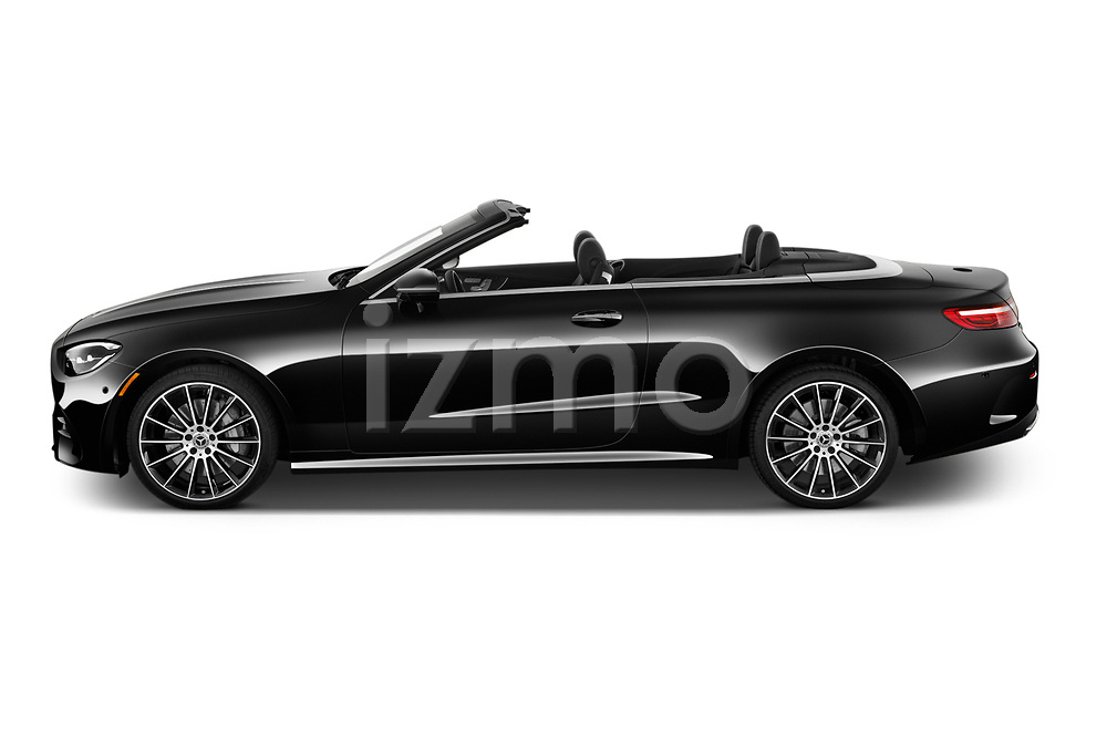 Car Driver side profile view of a 2021 Mercedes Benz E-Class-Cabriolet E450 2 Door Convertible Side View