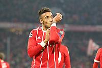 Corentin Tolisso #24 (FC Bayern Muenchen)  3:1<br /> celebration<br /> Soccer Football - Champions League - Bayern Munich vs Paris St Germain - Allianz Arena, Munich, Germany - December 5, 2017 *** Local Caption *** © pixathlon<br /> Contact: +49-40-22 63 02 60 , info@pixathlon.de