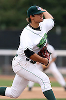 September 6 2008:  Starting pitcher Brad Hand of the Jamestown Jammers, Class-A affiliate of the Florida Marlins, during a game at Russell Diethrick Park in Jamestown, NY.  Photo by:  Mike Janes/Four Seam Images