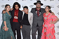 """New York CITY - JUNE 15: Paulina Alexis, D'Pharaoh Woon-A-Tai, Lane Factor, Writer/Director Sterlin Harjo and Devery Jacobs attend the Tribeca Festival screening of FX's """"Reservation Dogs"""" on June 15, 2021 in New York City. (Photo by Anthony Behar/FX/PictureGroup)"""