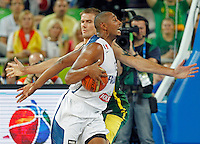 "France`s Boris Diaw in action during European basketball championship ""Eurobasket 2013""  final basketball game between France and Lithuania in Stozice Arena in Ljubljana, Slovenia, on September 22. 2013. (credit: Pedja Milosavljevic  / thepedja@gmail.com / +381641260959)"