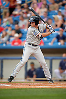 West Michigan Whitecaps designated hitter Chad Sedio (31) at bat during the second game of a doubleheader against the Lake County Captains on August 6, 2017 at Classic Park in Eastlake, Ohio.  West Michigan defeated Lake County 9-0.  (Mike Janes/Four Seam Images)