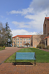 Brick Plaza and Bench, Mount Angel Abbey, St. Benedict, Oregon