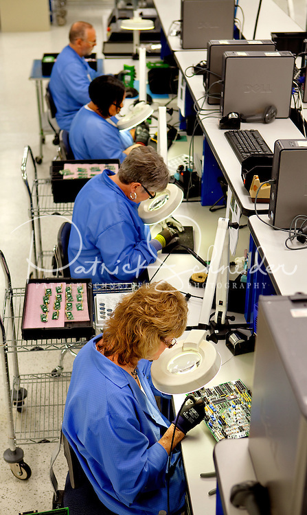 Employees at General Microcircuits (Mooresville, NC) design and manufacture circuit boards and integrated assemblies. General Microcircuits serves customers in all segments of the industrial, commerical, telecommunications, medical, defense and evolving markets sectors with cutting edge technologies and equipment.