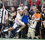 Alabama Crimson Tide wide receiver DeVonta Smith (6) catches the game winning touchdown against the Georgia Bulldogs in overtime of the NCAA College Football Playoff National Championship at Mercedes-Benz Stadium on January 8, 2018 in Atlanta. Photo by Mark Wallheiser/UPI