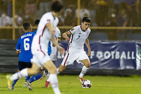 SAN SALVADOR, EL SALVADOR - SEPTEMBER 2: Gio Reyna #7 of the United States moves with the ball during a game between El Salvador and USMNT at Estadio Cuscatlán on September 2, 2021 in San Salvador, El Salvador.