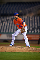 Syracuse Mets pitcher Louis Coleman (25) during an International League game against the Charlotte Knights on June 11, 2019 at NBT Bank Stadium in Syracuse, New York.  Syracuse defeated Charlotte 15-8.  (Mike Janes/Four Seam Images)