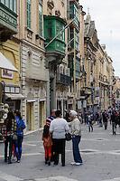 Republic Street in Valletta, Malta, Europa, Unesco-Weltkulturerbe