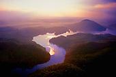 Sunset over Lake Ocoee, Cherokee National Forest