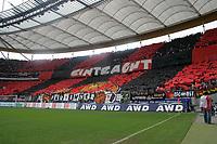Choreoraphie der Frankfurter Fans