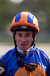 SARATOGA SPRINGS, NY - AUGUST 26: champion jockey Ryan Moore at Saratoga Race Course on August 26, 2017 in Saratoga Springs, New York.(Photo by Alex Evers/Eclipse Sportswire/Getty Images)