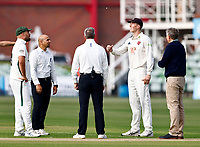 Zak Crawley (R) wins the toss for Kent and decides to bowl during Kent CCC vs Worcestershire CCC, LV Insurance County Championship Division 3 Cricket at The Spitfire Ground on 5th September 2021