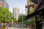 Seattle, First Avenue, Queen City Grill, Belltown, summer, street scene,