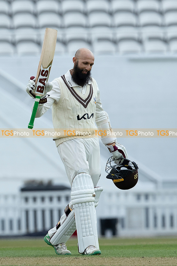 Hashim Amla of Surrey acknowledges his double hundred during Surrey CCC vs Hampshire CCC, LV Insurance County Championship Group 2 Cricket at the Kia Oval on 30th April 2021