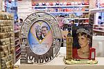 Prince William and Kate Middleton Royal Wedding memorabilia. London shop Princess Diana.