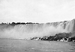 Niagara Falls, New York:  View of the American Falls from the Maid of the Mist.