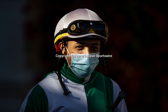 AUG 07: Asael Espinoza at Del Mar Thoroughbred Club in Del Mar, California on August 07, 2020. Evers/Eclipse Sportswire/CSM
