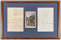 BNPS.co.uk (01202) 558833<br /> Pic:  Forum Auctions/BNPS<br />  <br /> Nelson's big 'bullocks'..<br /> <br /> A letter revealing Admiral Lord Nelson's massive meat order for his fleet ahead of the Battle of Trafalgar has sold for over £3,000.<br /> <br /> The naval hero did not want a lack of supplies to compromise the British blockade of the French fleet at Toulon in 1804.<br /> <br /> So he instructed one of his captains to head to Sardinia to collect 'fresh beef' in the form of at least 60 live bullocks, as salted meat was not satisfactory for his men.