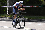 Vincenzo Nibali (ITA) Trek-Segafredo recces the route during Stage 1 of the 2021 Giro d'Italia, and individual time trial running 8.6km around Turin, Italy. 8th May 2021.  <br /> Picture: LaPresse/Fabio Ferrari   Cyclefile<br /> <br /> All photos usage must carry mandatory copyright credit (© Cyclefile   LaPresse/Fabio Ferrari)