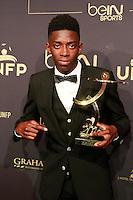 OUSMANE DEMBELE elu Meilleur Espor de ligue 1- 25eme Ceremonie des Trophees UNFP au Pavillon Gabriel