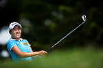 TAOYUAN, TAIWAN - OCTOBER 28:  Ilhee Lee of South Korea tees off on the 2nd hole during the day four of the Sunrise LPGA Taiwan Championship at the Sunrise Golf Course on October 28, 2012 in Taoyuan, Taiwan.  Photo by Victor Fraile / The Power of Sport Images
