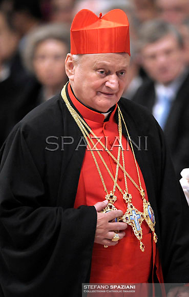Romanian cardinal Lucian Muresan  , Pope Benedict XVI leads the Consistory where he will appoint 22 new cardinals on February 18, 2012 at St Peter's basilica at the Vatican.