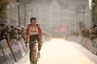 Yves LAMPAERT (BEL/Deceuninck-Quick Step) returning from sign-on<br /> <br /> 103rd Ronde van Vlaanderen 2019<br /> One day race from Antwerp to Oudenaarde (BEL/270km)<br /> <br /> ©kramon