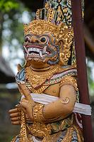 Jatiluwih, Bali, Indonesia.  Temple Guardian (Dwarapala), Luhur Bhujangga Waisnawa Hindu Temple.