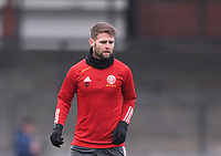 9th January 2021; Memorial Stadium, Bristol, England; English FA Cup Football, Bristol Rovers versus Sheffield United; Oliver Norwood of Sheffield United warms up