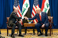 President Donald J. Trump participates in a bilateral meeting with Iraqi President Barham Salih Tuesday, September 24, 2019, at the Lotte New York Palace in New York City. (Official White House Photo by Shealah Craighead)