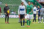 19.09.2020, wohninvest Weserstadion, Bremen, GER,  SV Werder Bremen vs Hertha BSC Berlin, <br /> <br /> <br />  im Bild<br /> Niklas Stark (Hertha BSC #05)<br /> Davie Selke  (SV Werder Bremen #09)<br /> <br /> Foto © nordphoto / Kokenge<br /> <br /> DFL regulations prohibit any use of photographs as image sequences and/or quasi-video.