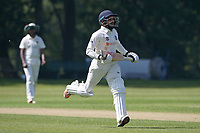 Bilal Patel adds to the Wanstead total during Wanstead and Snaresbrook CC vs Harold Wood CC, Hamro Foundation Essex League Cricket at Overton Drive on 17th July 2021