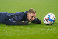 Goalkeeper Ryan Allsop of Wycombe Wanderers ahead of the Sky Bet Championship behind closed doors match between Watford and Wycombe Wanderers at Vicarage Road, Watford, England on 3 March 2021. Photo by David Horn.